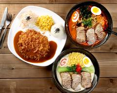 Brown Donkatsu and Ramen