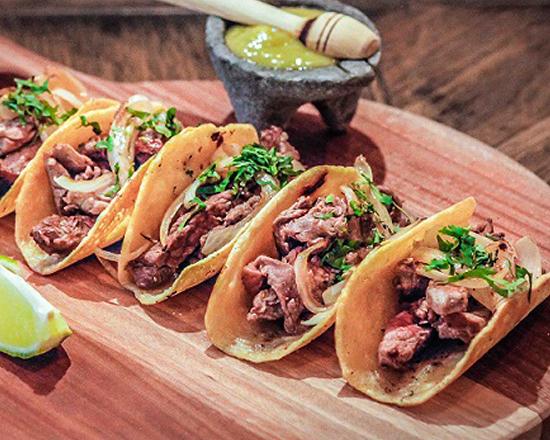 Menú de Tacos de falda de vacuno gallego