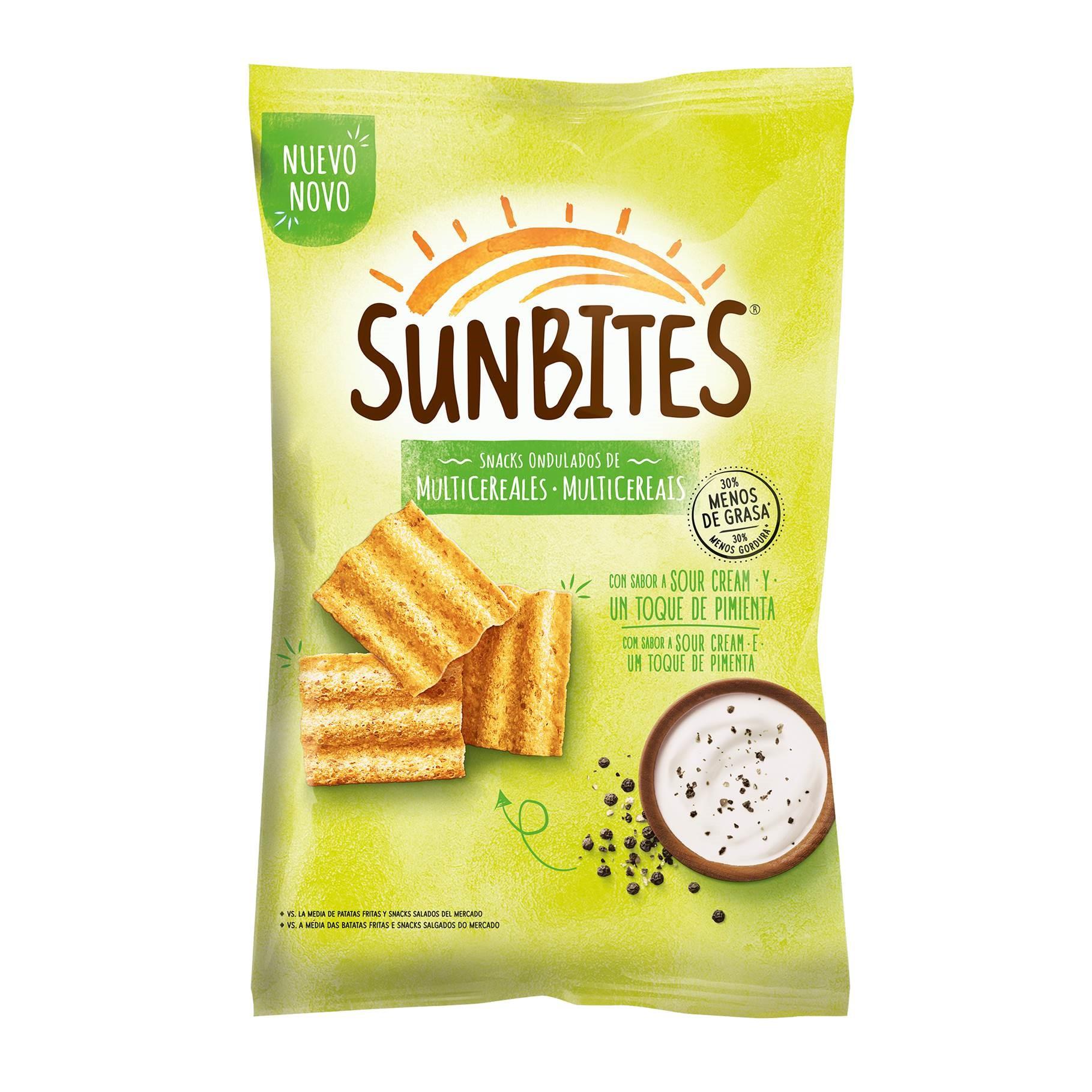 Sunbites Sour Cream & Pimenta 95g