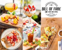 Bill of Fare