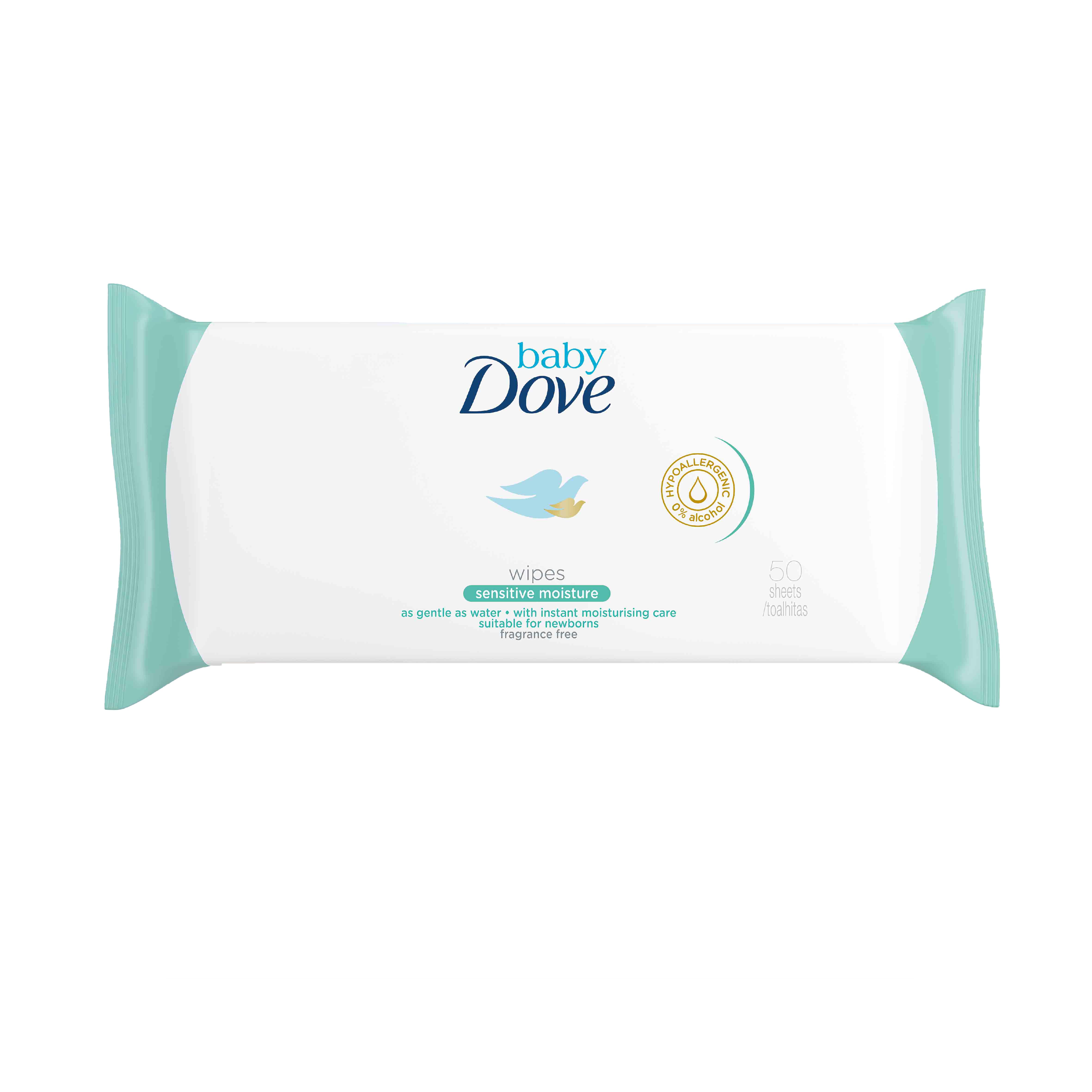 Toalhitas Sensitive Dove 50 unidades