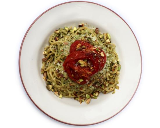 Spaghetti com Pesto de Pistáchio