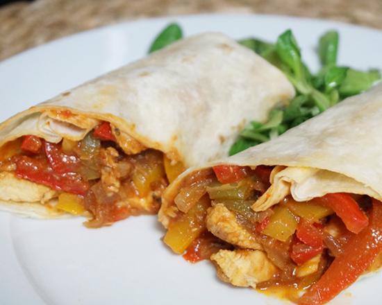 Menú de Burrito Pollo Plancha