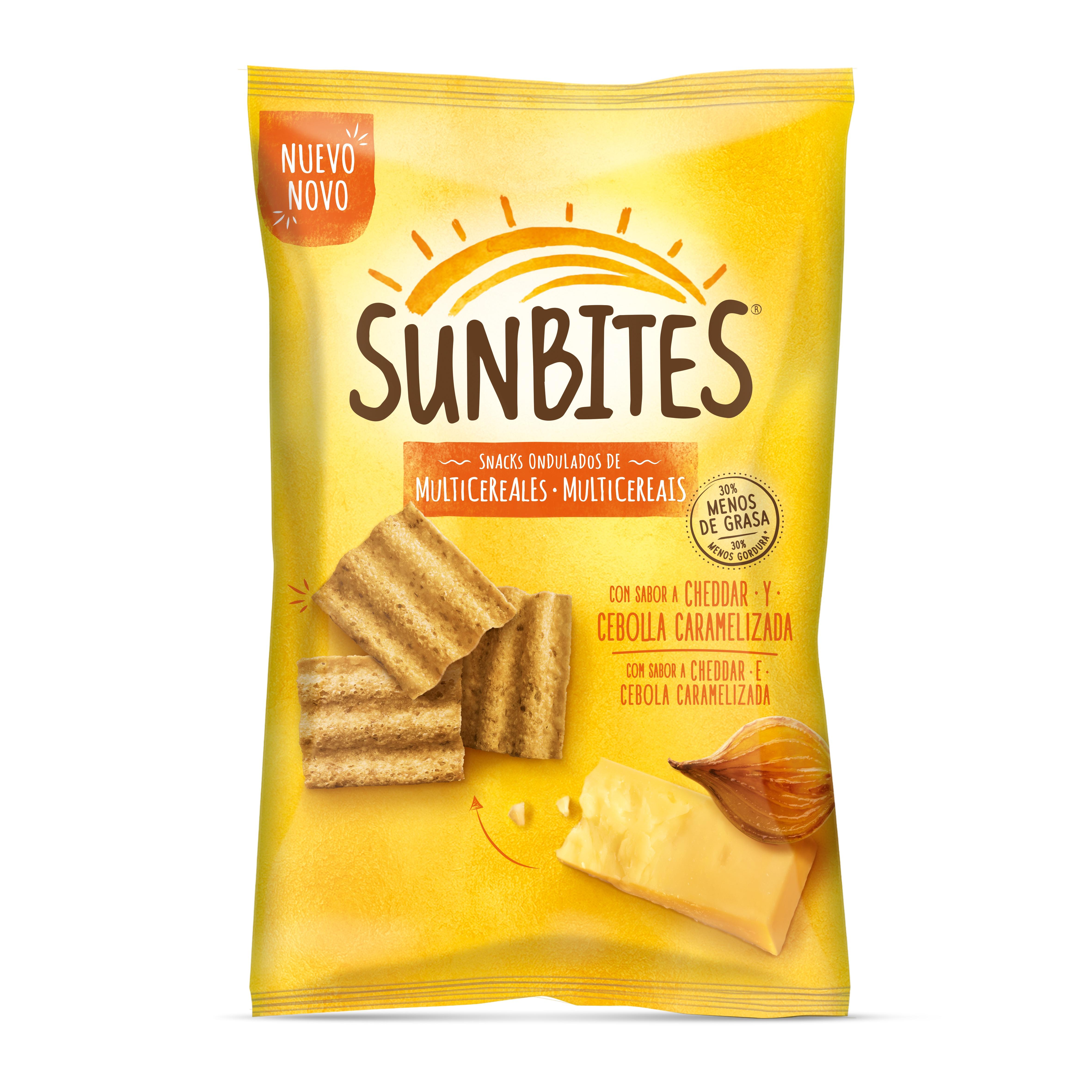 Sunbites Cheddar & Cebola 95g