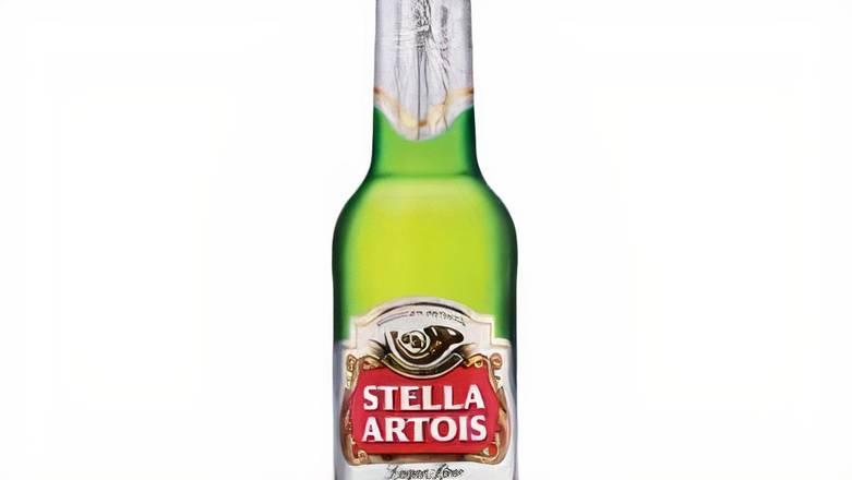 Stella Artois, 12oz bottled beer (5.2% ABV)