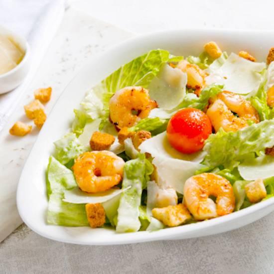 Salade cesare scampi