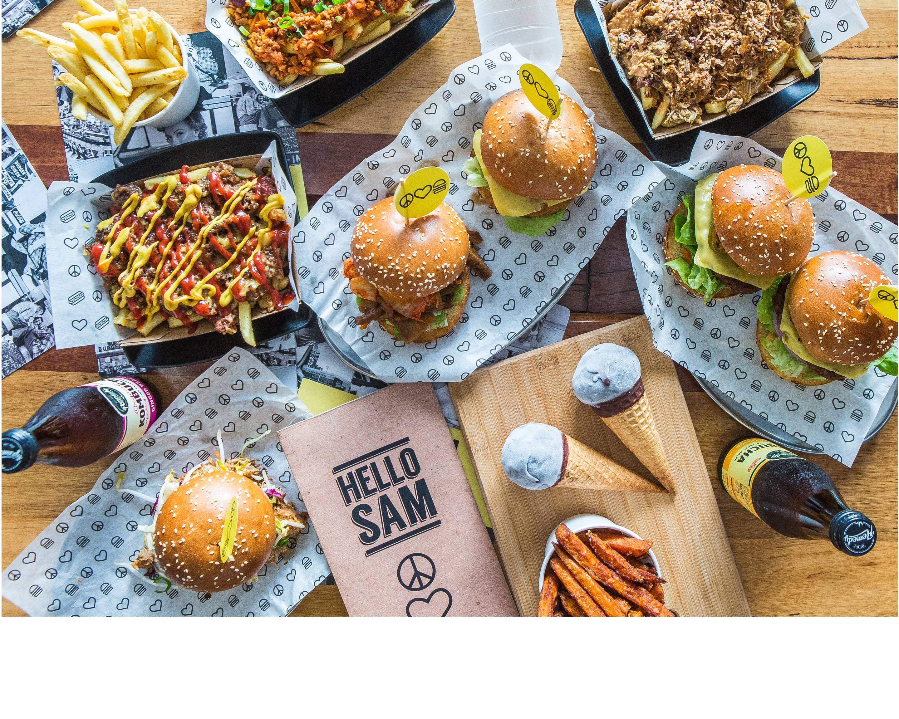Peace Love Burgers (By HELLO SAM) Delivery | South Yarra