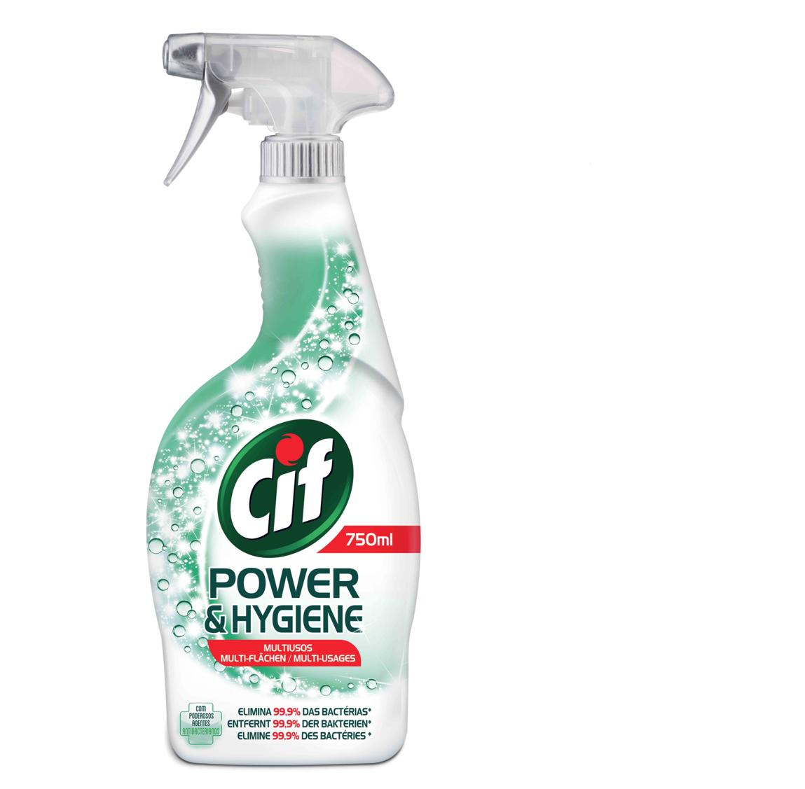 Spray Cif Power&Hygiene Antibacteriano 750ml
