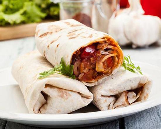 Menú de Burrito de tinga de ternera