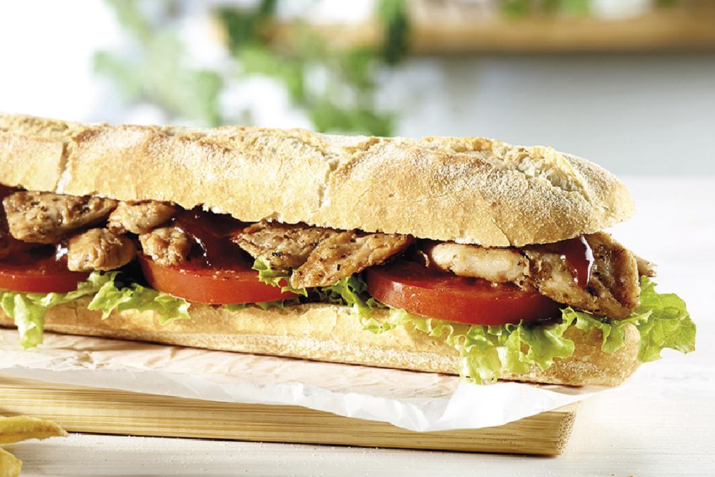 Sandes Heura BBQ - Vegan
