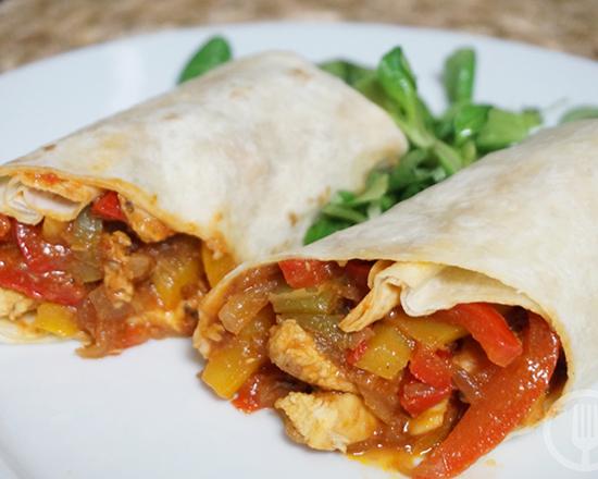 Menú de Burrito Vegetariano
