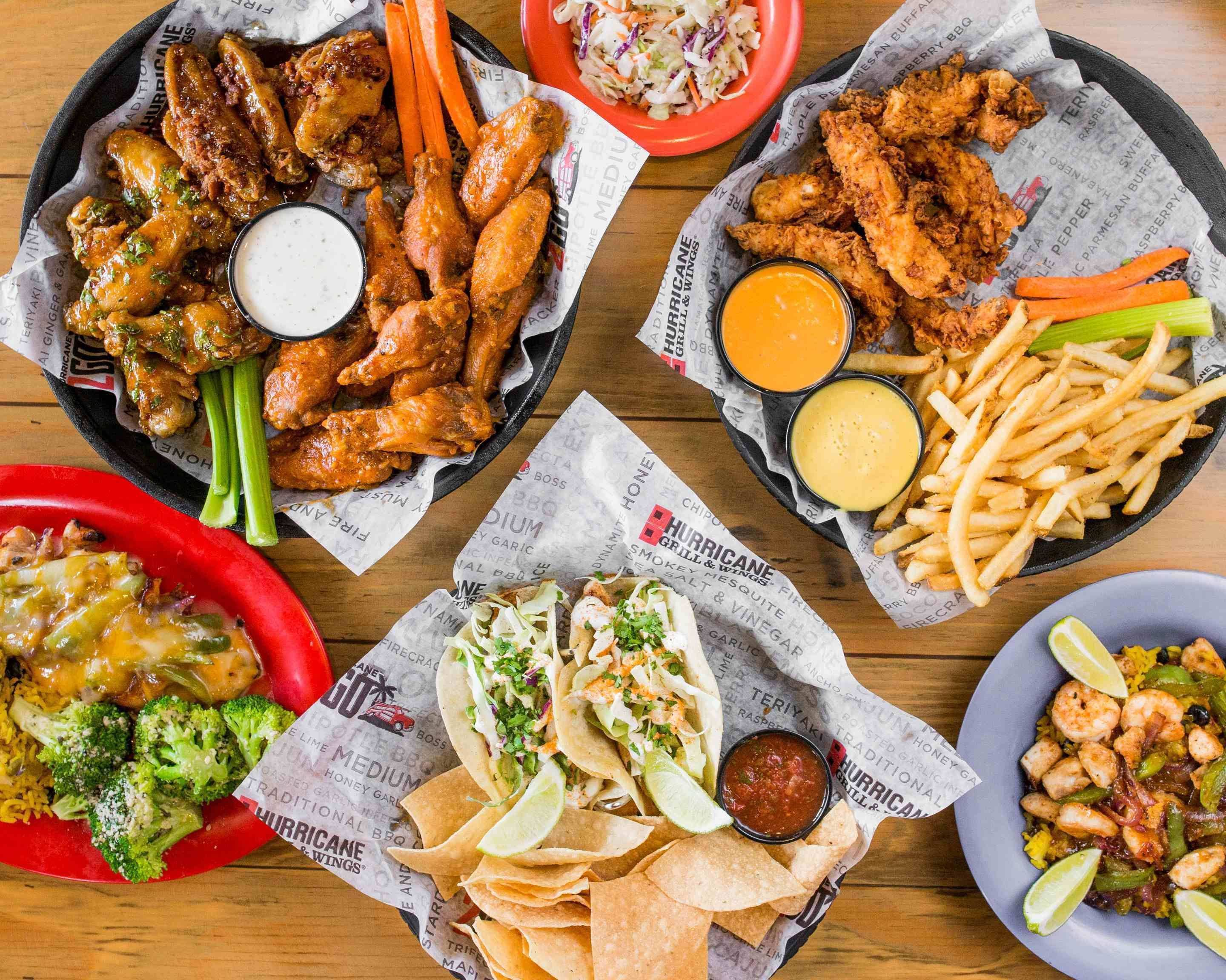 Hurricane Wings Palm Beach Gardens Menu
