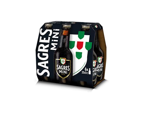 Sagres Mini Preta - Pack 6x20cl