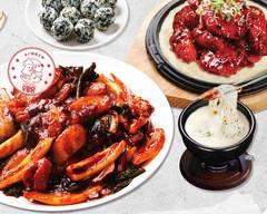 辛い韓国料理woopaldangイカ炒め 우팔닭 매운오징어 전문점