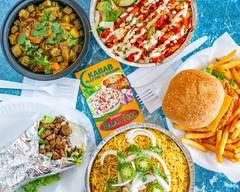 Kabab Platter and Burger