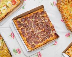 Pizza Quadrada Fornalha De Sião